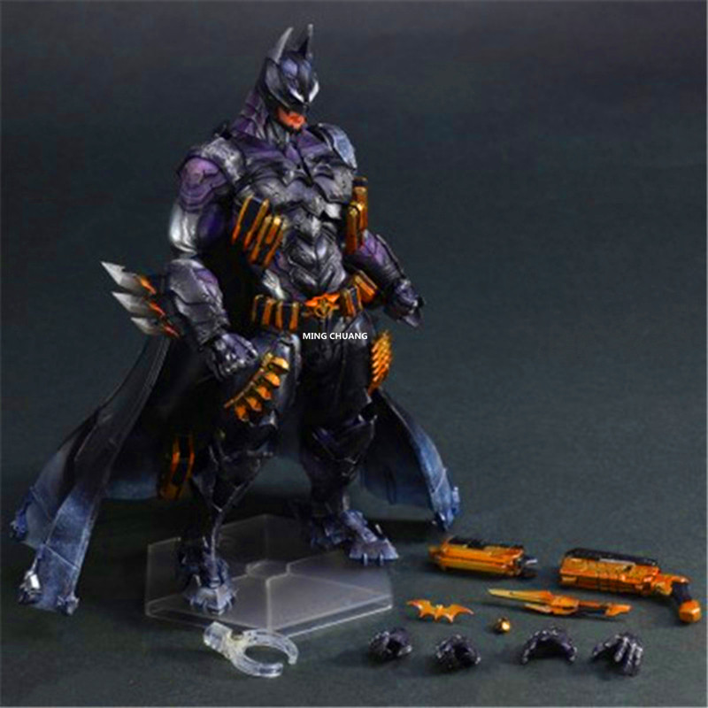 Justice League Play Arts Kai Batman Superhero Bruce Wayne The Dark Knight Armored Ver. PVC Action Figure Collectible Model ToyJustice League Play Arts Kai Batman Superhero Bruce Wayne The Dark Knight Armored Ver. PVC Action Figure Collectible Model Toy