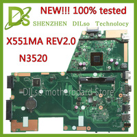 New For ASUS X551MA Laptop Motherboard N3520U X551MA Motherboard 90NB0480 R00400 REV2 0 100 Tested