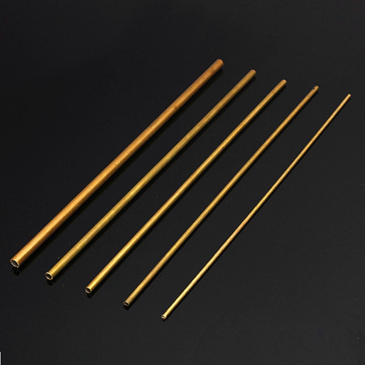 Brass Tube Pipe Model Tubing Round Inner 2mm 3mm 4mm 5mm Long 300mm Wall 0.5mm