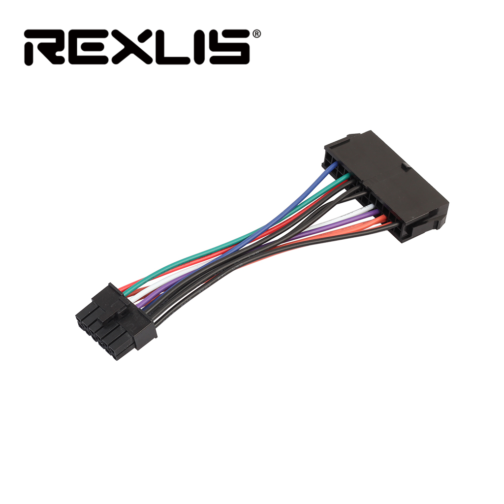 REXLIS Top Selling 15cm ATX 24 Pin To 12 Pin Power Supply Cable Adapter 24p To 12p Cord For Acer Q87H3-AM 15CM