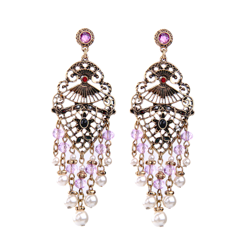 2017 new brand fashion jewelry charm vintage drop earrings