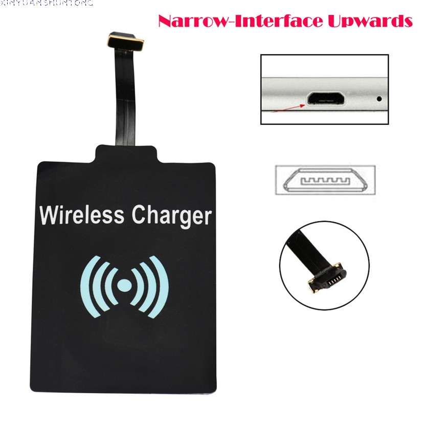 Qi 2017 Universal Wireless Charging Receiver Charger Module For Micro USB Cell Phone 2Jun13 super mini universal qi standard wireless charger charging plate hyacinth