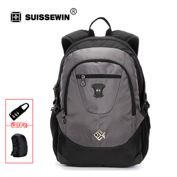 Suissewin Fashion Brand Backpack SN7077 Nylon School Backpack Bag Army Men Bagpack for Macbook Air Computer Mochila SN7077