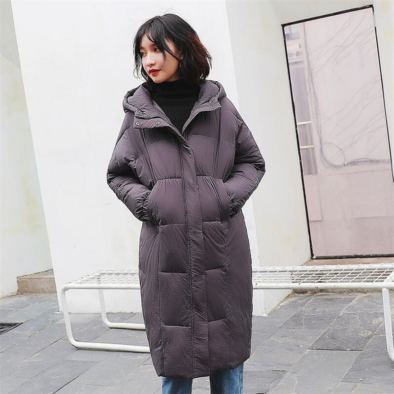 2019 Fashion Winter Oversized Baggy cotton Coat Casual solid striped slim jacket female winter large thickened women coat   Parkas