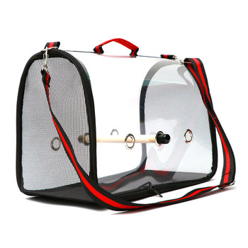 Lightweight Bird Carrier Cage Transparent Clear PVC Breathable Parrots Travel Bag @LS 1