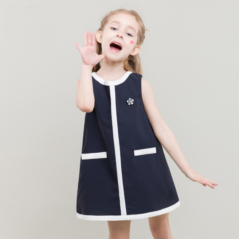 girl mini sleeveless dress fashion style summer Design of Korean designer