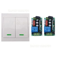 AC220V Digital Remote Control Switch 2 Receiver Wall Transmitter Wireless Power Switch 315 433MHZ Radio Controlled