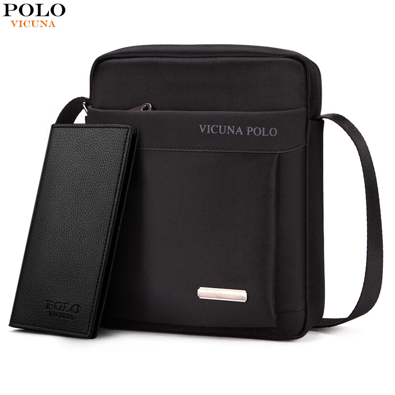 VICUNA POLO Light Weight Oxford Mens Messenger Bags For iPad Durable  Fashion Men Shoulder Bag Small Mens Sling Bag Dropshipping 97baa323d7