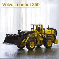 В наличии 20006 техника серии Volvo L350F модель колесного погрузчика 1636 шт. Строительный набор Конструкторы кирпичи игрушечные лошадки подарки со