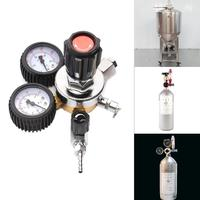 CO2 Regulator Carbon Dioxide For House Home Beer Brew Professional Quality Bar Tools With 2pc Rubber Band Dual track
