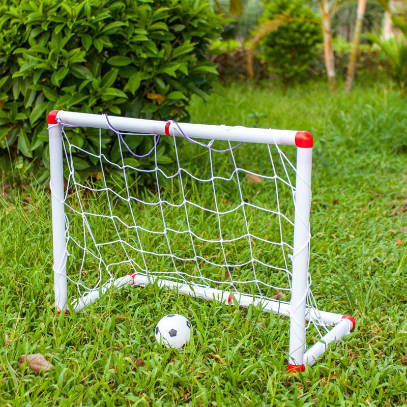 Portable Kids Football Goal Gate Mini Folding Soccer Gate Soccer Kids Game Training Football Ball Net Pump Free Shipping