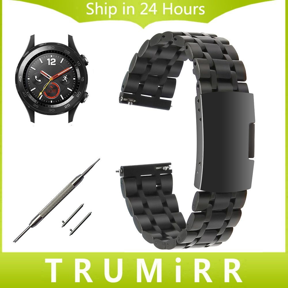 20mm Quick Release Watchband Stainless Steel Strap for Huawei Watch 2 (Sport) Garmin Vivomove Ticwatc 2 42mm Wrist Band Bracelet outdoor sport strap for garmin fenix 5 metal band with quick fit stainless steel watchband 22mm width for garmin forerunner 935