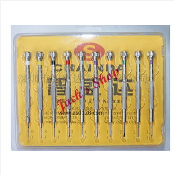 Free Shipping 10pcs Watch Screwdriver Set High Quality