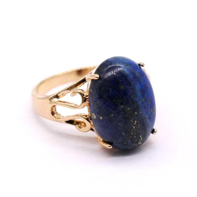 GZJYไพฑูรย์แหวนธรรมชาติไพฑูรย์จริงแชมเปญทองแหวนสีสำหรับผู้หญิงG08-2