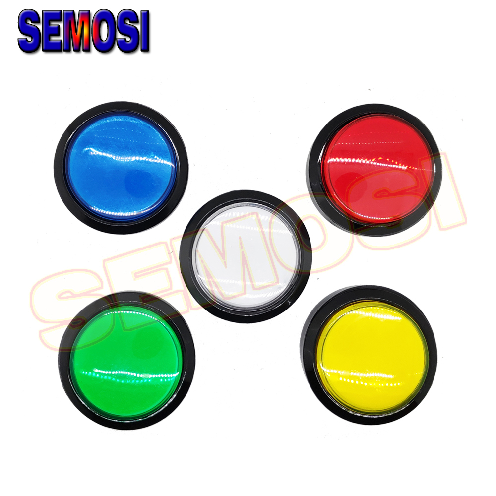 45mm Push Button Arcade Button Led Light Lamp Micro Switch 12V Power Button Switch Set Coin Operated Games