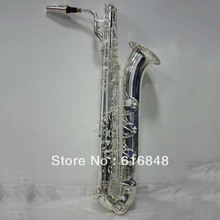 Hot Sell Copy Saxophone Professional Baritone E Flat Saxophone Brass Silver Plating High Quality Musical Instruments