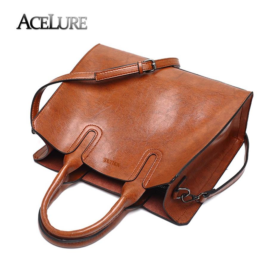 cefa9bb17b ACELURE Leather Handbags Big Women Bag High Quality Casual Female Bags  Trunk Tote Spanish Brand Shoulder Bag Ladies Large Bolsos