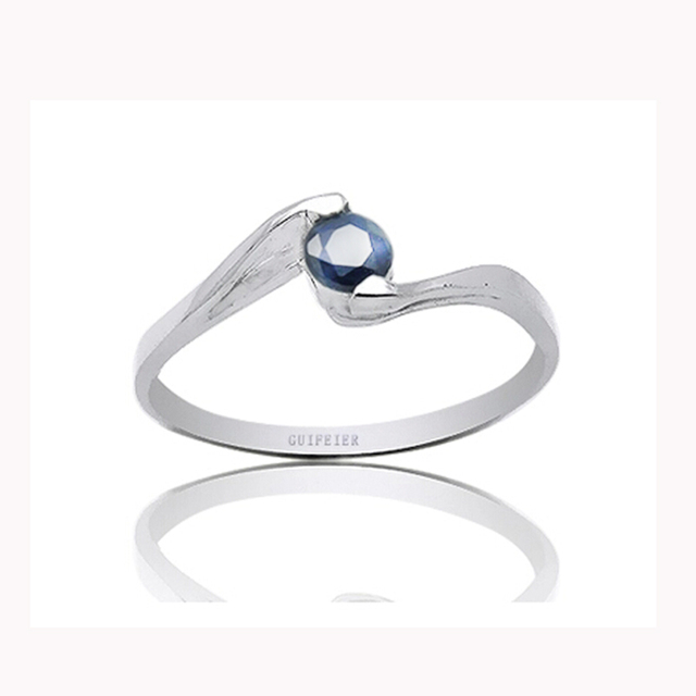 Fashion engagement silver rings simple design natural sapphire ring real stamped 925 silver wholesale price from sapphire mine