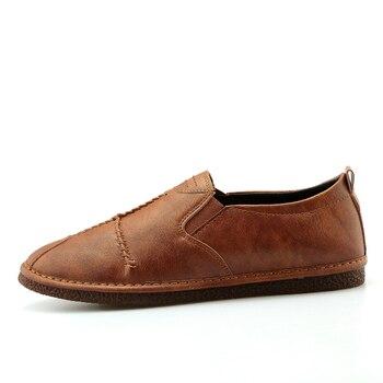 VKERGB mokasyny mokasyny w stylu vintage mieszkania hombre buty mężczyzn krotnie tekstury klej buty zapatos hombre płaskie gumki buty czarny
