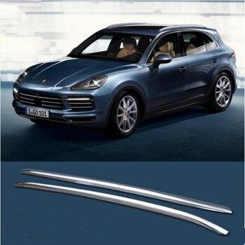 Kualitas Tinggi Merek Baru Mobil Aluminium Paduan Atap Rak Bagasi Bagasi Bar Cocok untuk Porsche Cayenne 2018 2019 2020
