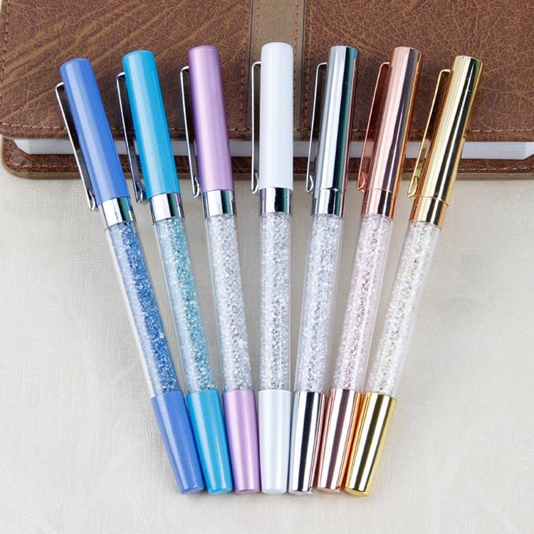 BPCreative Metal Crystal Diamond Ball Pen Set Stationery Refill 0.5mm Signature Pen for Office School Supplies WJ-B P47 недорго, оригинальная цена