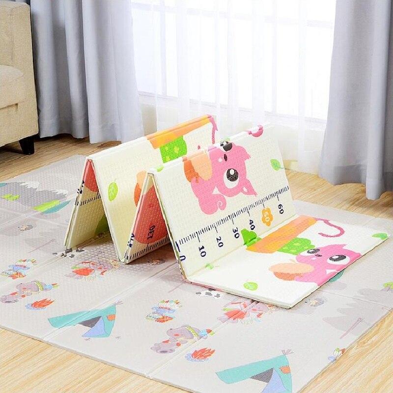 Cute Cartoon Folding Play Mats Baby Play Game Pad Infants