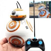 Frete Grátis BB-8 Bola Figura de Ação de Star Wars RC BB 8 BB8 Droid Robot 2.4G Robô Inteligente de Controle Remoto Modelo de Brinquedo do Miúdo presente