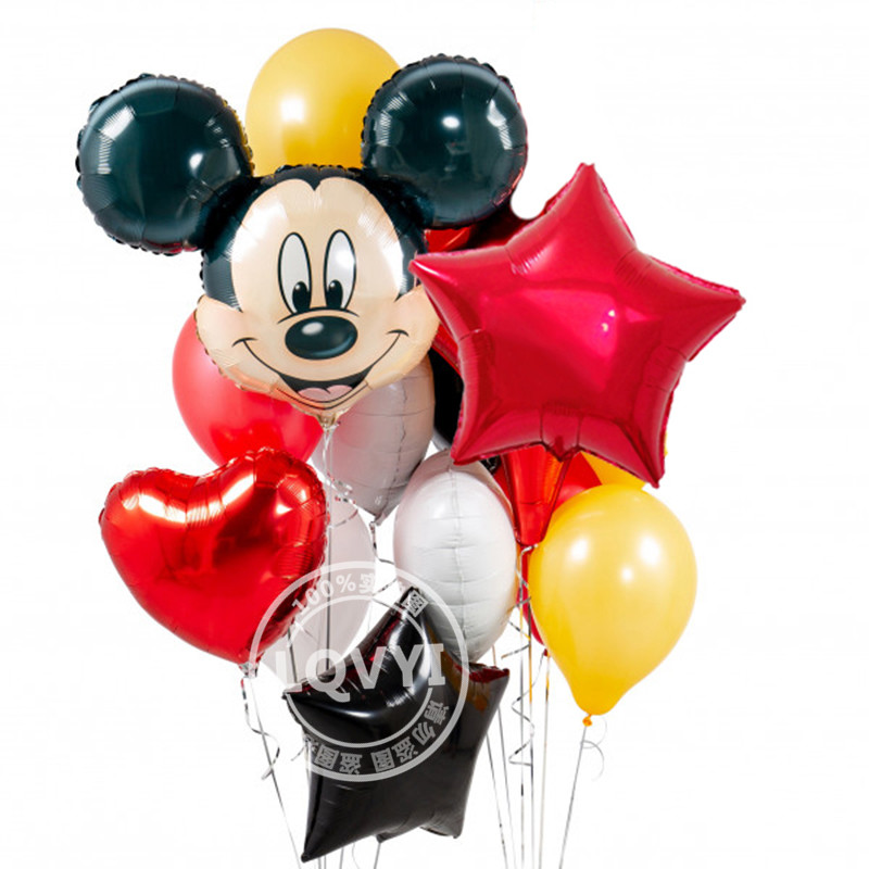 12pcs-mickey-minnie-mouse-18-inch-star-Helium-Foil-Balloons-happy-birthday-decoration-balloon-BabyShower-1th
