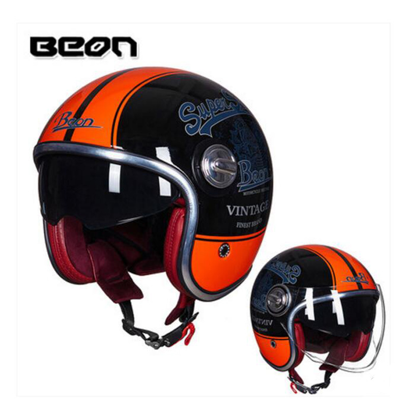 2019 Winter New Eur ECE certification BEON Double lens Harley style Motorcycle Helemt B108A ABS Retro Motorbike Helmets PC Visor