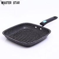 Master Star Non Stick Fry Pan Fried Egg Steak Skillet Grill Pan For Omelette Pancake Making Aluminum Frying Pan