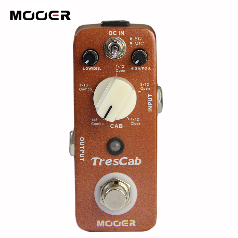 MOOER Trescab Digital Cab Simulated Pedal with 5 Cab Choices Electric Guitar Effect Pedal mooer ensemble queen bass chorus effect pedal mini guitar effects true bypass with free connector and footswitch topper