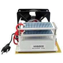24 Гц/ч озоновый генератор очиститель воздуха 220 В с двойной листовой керамической пластиной длительный срок службы озонатор стерилизатор Вентилятор отличный нагрев