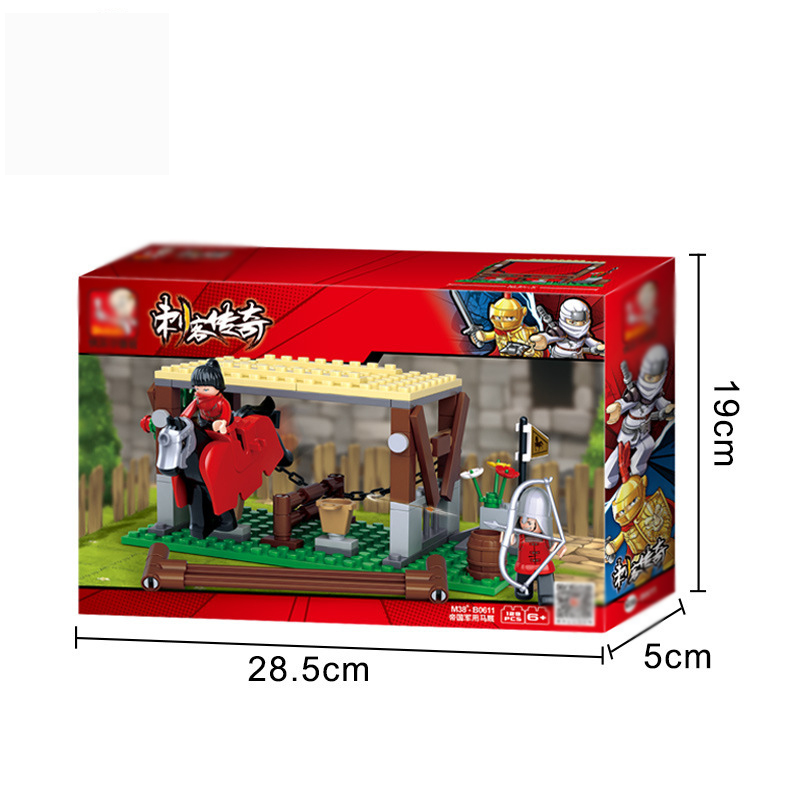 0611 Assembling Building Blocks Creative Assembling Boy Building Blocks Assassin Series Empire Horse Stable Children 39 s Toys in Blocks from Toys amp Hobbies