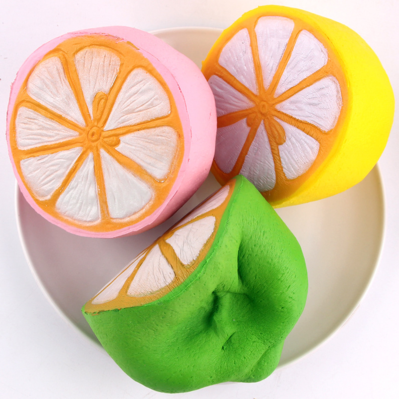 2017 11CM New Jumbo Slow Rising Squishy lemon Soft kawaii ERIC fruit simulation Squeeze charm cute Bread Cake kid toy gift Fun