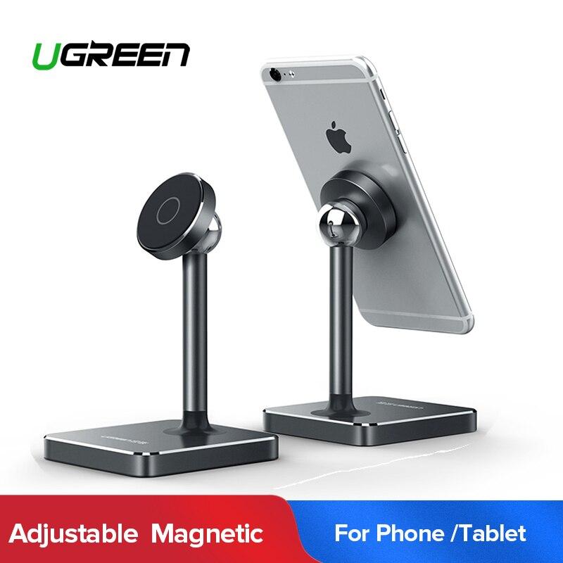 Ugreen magnético soporte para teléfono para iPhone XS Max 7 Plus imán escritorio teléfono celular soporte titular de montaje para el teléfono móvil de Samsung soporte