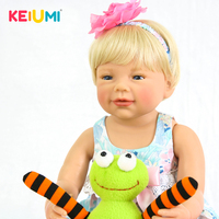 KEIUMI 22 Inch Baby Alive Girl Doll Full Body Silicone 55 cm Lifelike Cute Princess Reborn Dolls For Sale Kids Birthday Gifts