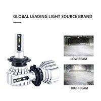 H4 12V 72W 6500K Front Light Bulb Headlights Modification Car bulb Assembly Integrated Far And Near LED Light For Toyota Prado