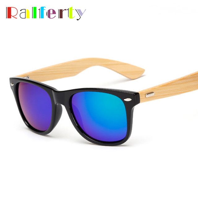 Ralferty Vintage Bambou lunettes de Soleil Hommes Or D origine Bois Lunettes  De Soleil Femmes 0d4f703e6f9e