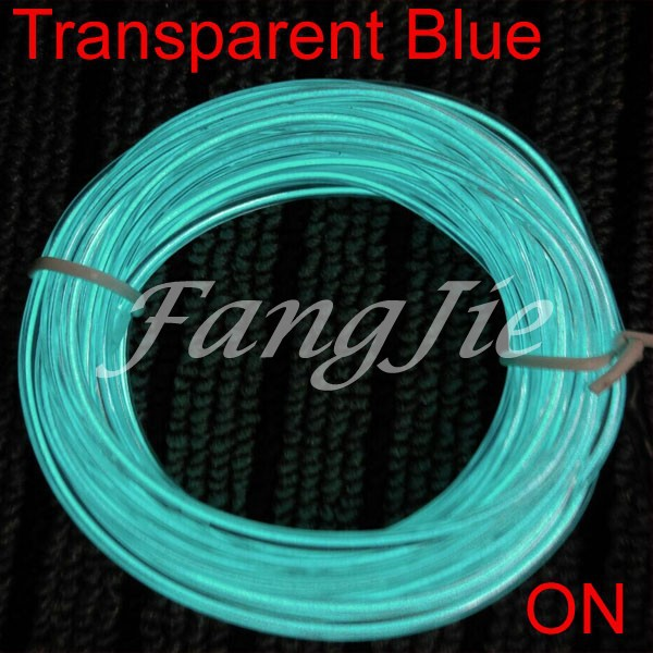 10M Neon Glowing Electroluminescent Wire (El Wire) + 4 AA Battery ...