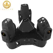 IMRELAX חדש 3 ראשי הזזת ראש אור שליטה יחידה 3*10W RGBW 4in1 נוריות משולש DMX DJ שלב דיסקו אור