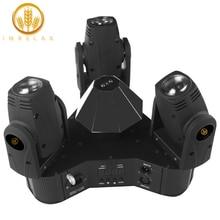 Imrelax新3ヘッド移動ヘッドライト個別制御3*10ワットrgbw 4in1 led三角形dmx djステージディスコライト