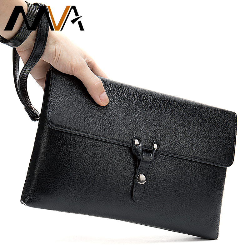 MVA Genuine Leather Clutch Male Wallet Men's Clutch Bag/Purse Wallet Men Leather Large Capacity Men's Purse for Men Wallets 2028