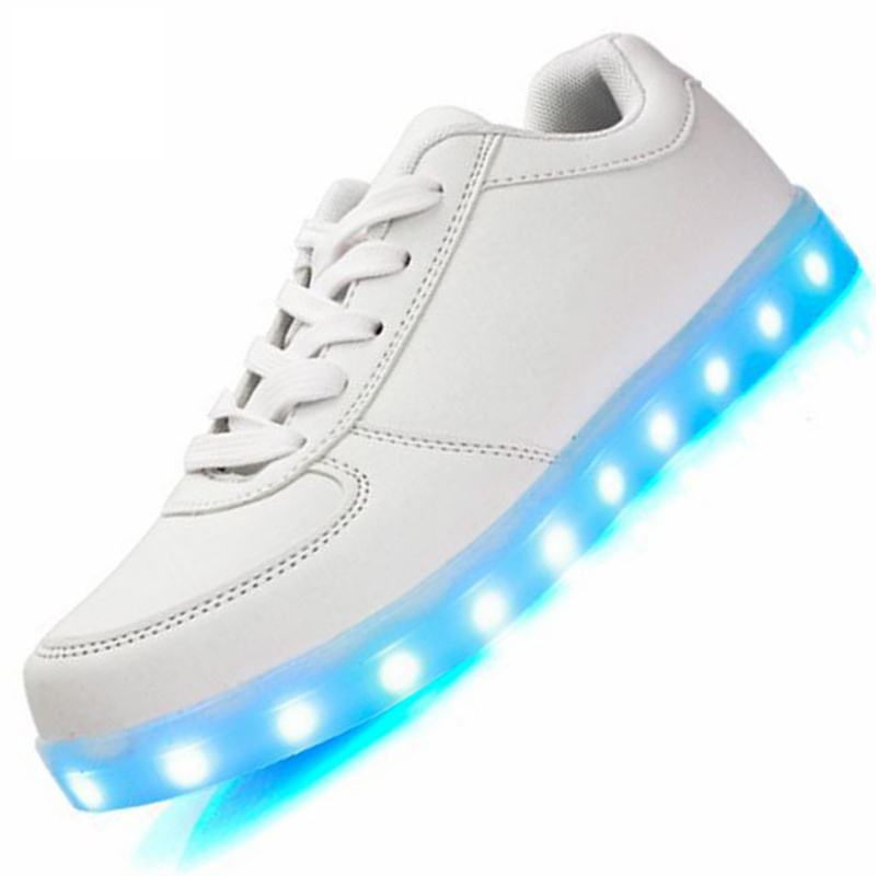 996888e665b24 Usb charging shoes Light up led Slippers do with Lights Up luminous shoes  Led tenis simulation Kids Luminous Sneakers Basket