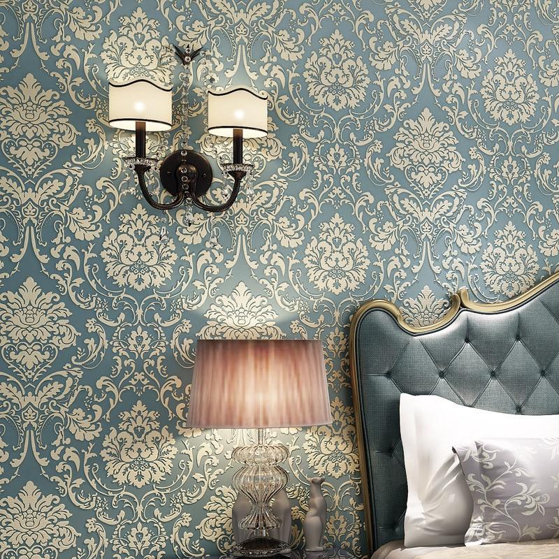 beibehang Damascus Non-woven fabrics papel de parede 3d flooring Wallpaper For Wall 3 D TV Room Bedroom Wall paper Home Decor