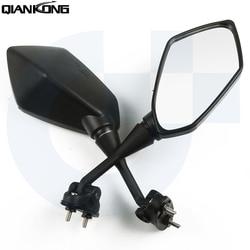 Uniwersalny motocykl lusterko wsteczne 2 sztuk/para szeroki kąt regulowany lewy prawy dla SUZUKI GSX1400 GSF650 GSF1200 GSF1250 BANDIT