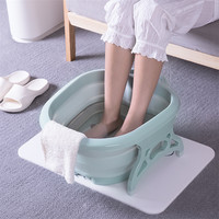 3 Colors Foldable Footbath plain foaming massage bucket Plastic foot bath basin large heightening footbath fording barrel