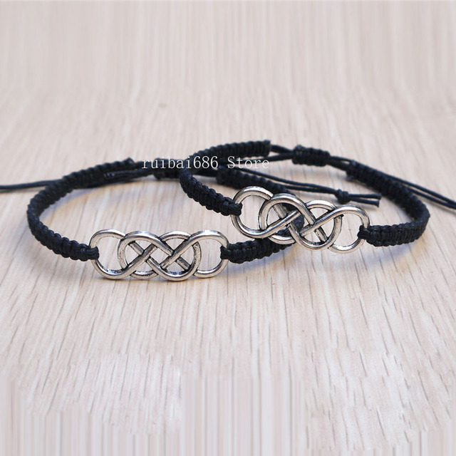 Double Infinity Couples Bracelets His And Hers Charm Bracelets