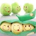 2015 Fashion Lovely Bean Pods  Pillow Fun Plush Toy Doll For Children Or Friends Gift Pea Doll Free Shipping