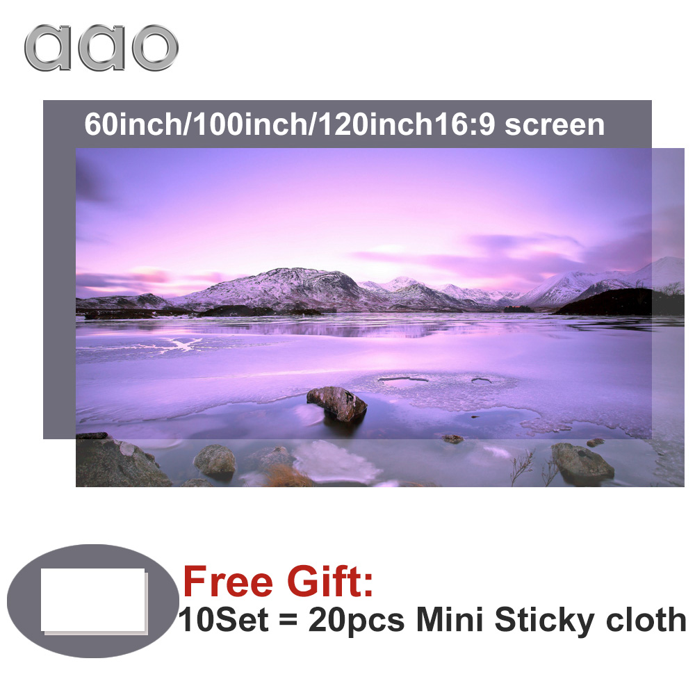 AAO Projector-Screen Reflective-Fabric Benq XGIMI YG420 100-120inch 60 for Espon Benq/Xgimi/Yg420
