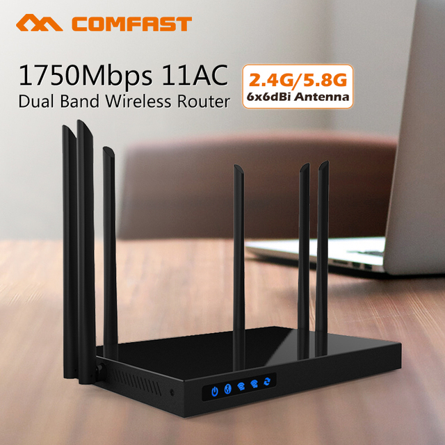 Comfast 1750Mbps AC WIFI Router 2.4G+5.8G Enginering AC Manage router  CF-WR650AC 1Wan 4Lan 802.11ac access point wi fi router